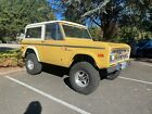 1972 Ford Bronco  1972 Ford Bronco SUV Yellow 4WD Manual