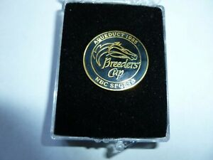 1985 BREEDERS CUP  NBC SPORTS LAPEL PIN IN BOX - ORIGINAL - NOT COUNTERFEIT