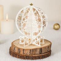 3D Hollow Christmas Birthday Cards handmade Crystal Ball Card Custom -2018