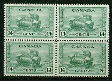 CANADA-1943- RAM TANK - BL. OF 4 - VF**