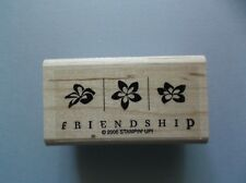 Stampin' Up Rubber Stamps Friendship Flowers New wood Stamp