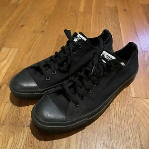 Vintage Converse Black Low Tops Men's Size 11.5 MADE IN USA