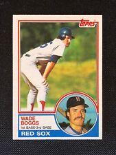 1983 Topps Wade Boggs Rookie RC #498 NM HOF Boston Red Sox *63