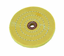 "6"" Rotary Polishing Pad Stitched Buffing Wheel - Bench Grinder Power Drill"