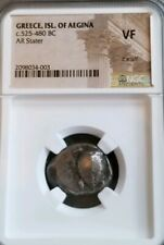 Greece, Isl Of Aegina Turtle Stater 525-480 BC NGC VF Ancient Silver Coin