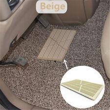 Universal Beige PVC Car Foot Mat Floor Carpet Pad Heel Pedal Patch Cover 25x16cm