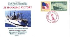HANNIBAL VICTORY Ship named: City of Hannibal, Missouri Color Cachet Handstamped