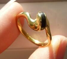 bague ancienne vintage 1970 émail or 18 carats 3,65 Gr ring in gold 18k french