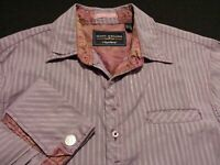 English Laundry Scott Weiland Mens Large L/S Multicolor Striped Button Up Shirt