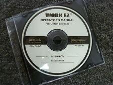 New Holland Work Ez Models 72bh Amp 84bh Box Blade Owner Operator Manual Cd