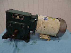 Leeson C6 17WK102 Washguard Motor 280-230V 1HP 1725 RPM w/Reducer No data Plate