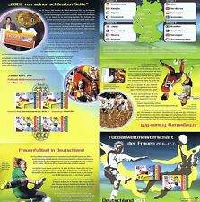 BRD 2011: Frauen-Fußball-WM! Erinnerungsblatt der Sportmarken Nr. 2857+2858! 1A!