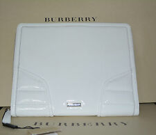 NWT BURBERRY $425 PATENT QUILT LEATHER TABLET IPAD COMPUTER SLEEVE CASE