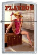 Zippo Playboy June 1984 Cover Satin Chrome Windproof Lighter NEW RARE