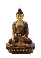 Soprammobile Tibetano Budda Akshobhya Rame E Oro Nepal Budda AFR9-8708
