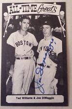 JOE DIMAGGIO Autographed Auto Signed Post Card with Ted Williams PSA/DNA LOA