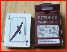 New 54 Playing cards Deck History of plane airplanes Ukraine BLACK FRIDAY SALE