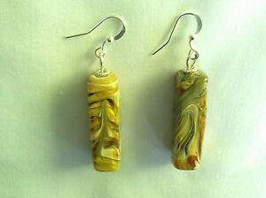 Lampwork Swirl Rectangle Earrings