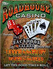 Casino Spielbank Poker Roulette Poster Zocker Vintage Glücksspiel Schild *099