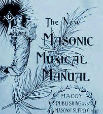 circa 1897 Freemason Masonic lodge organ sheet music CD
