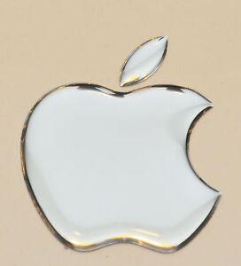 1 stck. Apple Logo 3D gewölbte Aufkleber für iPad. Silber. 50x43mm