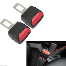 2PCS Universal Auto Car Seat Belt Buckle Clip Extender Safety Alarm Stopper