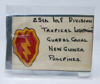 WWII United States US Army 25th Infantry Tropic Lightning Division Patch