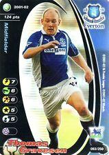 FOOTBALL CHAMPIONS 2001-02 Thomas Gravesen 093/250 Everton F.C. FOIL