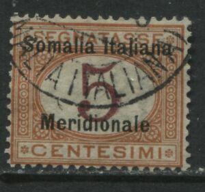 Italian Somalia overprinted 1906 Postage Due 5 centesimi used