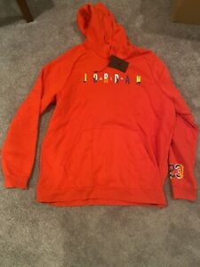 Nike Air Jordan Red DNA Pull Over Hoodie Size XXL