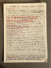André Breton invitation Gallery Schwarz Milan 1975 Le cadavre Exquis Exaltation