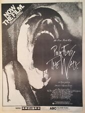 PINK FLOYD - THE WALL MOVIE. FULL-PAGE ADVERT FROM RECORD MIRROR 17 JULY 1982