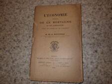 1894.Economie rurale de la Bretagne et son agriculture.De La Morvonnais