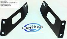 JEEP WRANGLER Bracket Hood Mount LED Light bar Made in THE USA