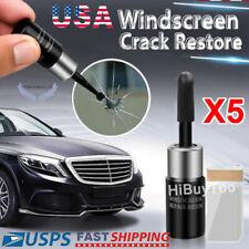 Automotive glass nano repair fluid - 5Pcs/set Windshield Crack Repair Tools Kit