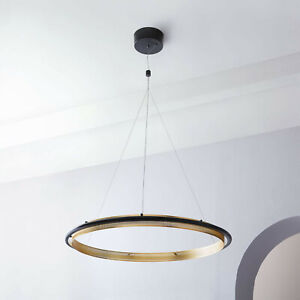 West Elm LED Hoop Chandelier Antique Bronze