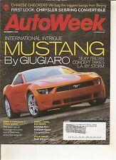 Autoweek Dec 4, 2006 - Giugiaro Mustang Concept - BMW Hydrogen 7 - Honda Fit