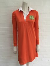 Ralph Lauren Black Label Orange Embroidered Polo Dress Size S small