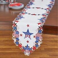 "Freedom Flags American Flag Patriotic 4th of July 72/"" Tapestry Table Runner"