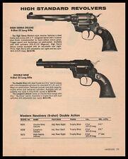 1982 High Standard High Sierra Deluxe & Double Nine Revolver Pistol Gun Ad