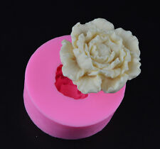 Peony Flower Silicone Fondant Mould Cake Decorating Chocolate Soap Mold Tool