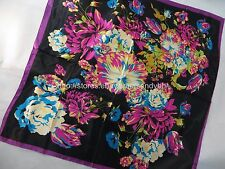 [US seller]boho retro floral 39x39 inches large square scarf hair scarves hijab