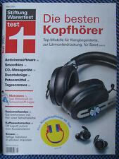 test Heft 03/2021 Warentest, Die besten Kopfhörer, Antivirensoftware, CO2- Messg