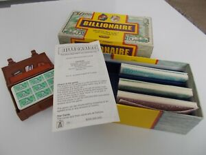 VINTAGE BILLIONAIRE CARD GAME BY SPEARS GAMES  COMPLETE