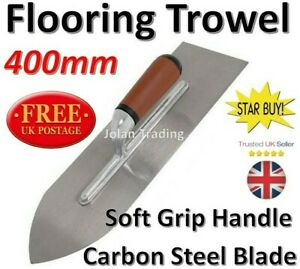 Flooring Trowel 400mm Rendering Levelling Pointed Corner Floor Steel Blade 1935