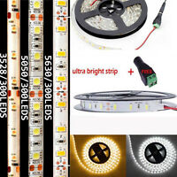5M 5630 5050 3528 3014 SMD 300 600Leds Flexible Led Strip Light Non Waterproof