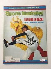 Mark Fidrych Signed 1977 Sports Illustrated Magazine Detroit Tigers Big Bird JSA