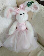 Bearington Collection Bears Tippy Toes White Bunny Rabbit Ballerina Tags Easter