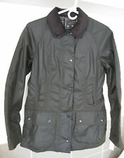 Womens Barbour Beadnell Jacket Olive New Tag made in England size US 4-6-8-10-14