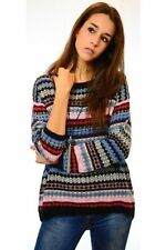 Unbranded Machine Washable Medium Knit Geometric Jumpers & Cardigans for Women